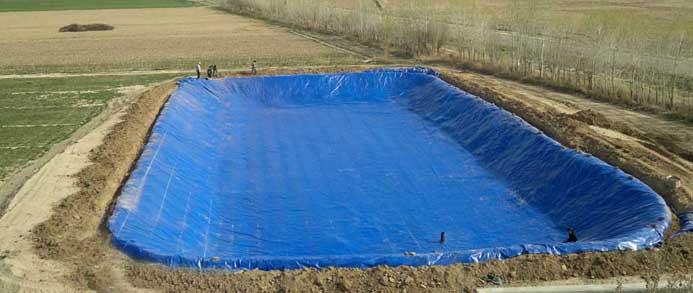 استخر ذخیره آب کشاورزی
