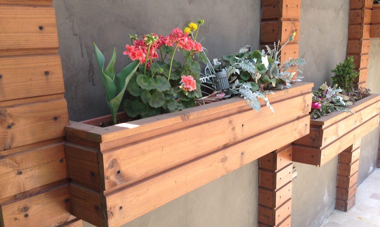 گلدان ترمووود - فلاور باکس ترمو وود چوبی
